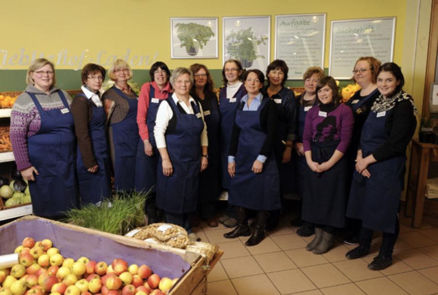 Das Team des Bio-Ladens auf dem Kiebitzhof